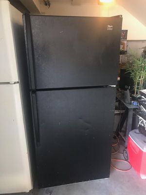 $199 Whirlpool black 18 cubic fridge includes delivery in the San Fernando Valley a warranty and installation for Sale in Los Angeles, CA