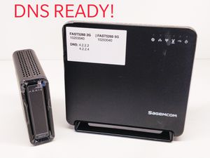 SB6141 + sagemcom fast5260 router combo DNS ready for Sale in Stanton, CA