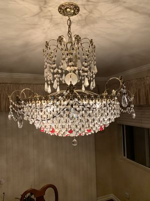 24k plated Crystal chandelier for Sale in Torrance, CA