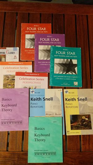 Beginner/Intermediate Piano Music Books - Theory - Lesson (Masterwork Classics, Celebration Series Perspectives, Four Star, Basics of Keyboard Theory) for Sale in Irvine, CA