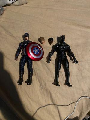 Marvel legends civil war black panther and captain America for Sale in San Bernardino, CA