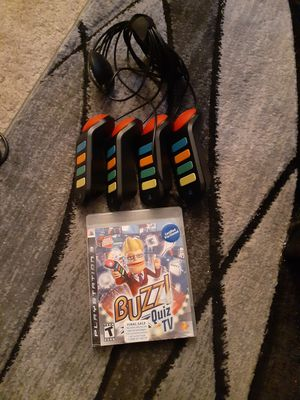 Playstation 3 game..buzzi quiz show with buzzers perfect condition for Sale in Indianapolis, IN