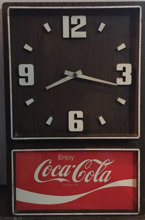Rare Rare Antique Original 1980's Coca Cola advertising Clock Sign for Sale in University Heights, OH