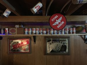 Andeker Pabst Mirror Sign Schmidt wildlife Beer Cans for Sale for sale  North Saint Paul, MN