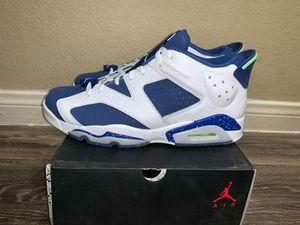 23d8c4e27115 2015 Nike Air Jordan 6 VI Retro Low Seahawks NEW Size 12 304401-106 supreme