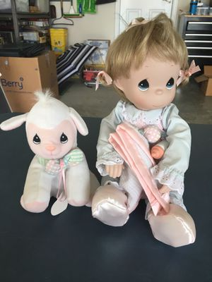 Precious Moments Porcelain Doll and Stuffed Lamb for Sale in Mount Juliet, TN