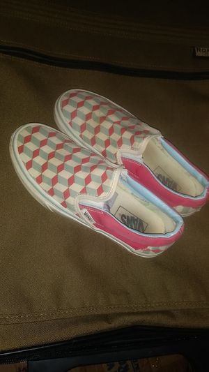 Nice Vans!! Girls slip on shoes. Size 6 womans for Sale in Canby, OR