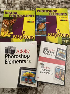 Adobe Photoshop Elements 4.0 and photo books for Sale in Walnut Creek, CA