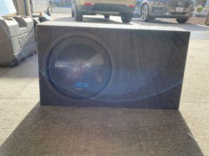 """Alpine 12"""" subwoofer type S with Metra subwoofer box for Sale in Carlsbad, CA"""
