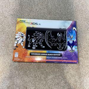 Nintendo 3DS XL Solgaleo Lunala Black Edition for Sale in Phoenix, AZ