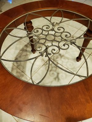 Round wooden table base for Sale in Davie, FL