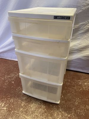 Plastic 4 Drawer Organizer for Sale in Lauderdale Lakes, FL