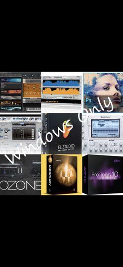 FL Studio, Pro Tools, Waves Plugins, Izotope, Kontakt, Adobe, Nexus, for Sale in McDonough,  GA