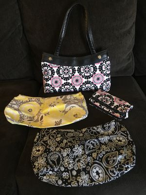 Gently used Thirty One Purse with 3 interchangeable covers and Brand New Wallet for Sale in House Springs, MO