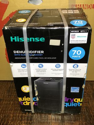 Hisense 70-Pint 2-Speed Dehumidifier ENERGY STAR for Sale in Denton, TX