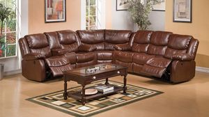 Just $50 down - Fullerton leather Reclining sectional for Sale in Miami, FL