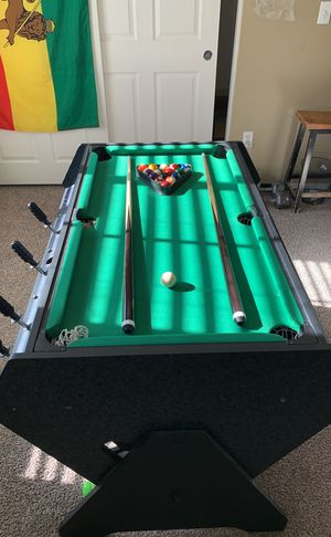 3 in 1 pool table , air hockey , n foosball $250 obo for Sale in Las Vegas, NV
