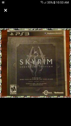 Skyrim PS3 game for Sale in Wichita, KS