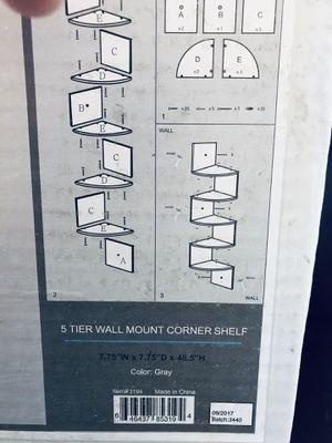 5 Tier Wall-mount Corner Shelf grey for Sale in Las Vegas, NV