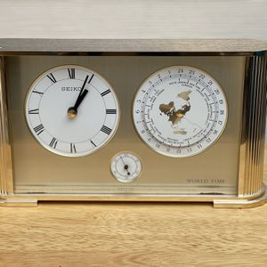 SEIKO QUARTZ BRASS WORLD TIME CLOCK for Sale in Houston, TX