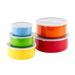 10 Pcs Colorful Stainless Steel Mixing Bowls or Food Storage Containers Set w/ Lids by Imperial Home for Sale in Los Angeles, CA