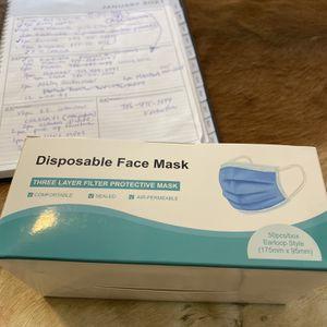 50 Masks Per Box for Sale in Miami, FL