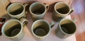 6-Longaberger, 12 oz Sage Green mugs for Sale in South Harrison Township, NJ