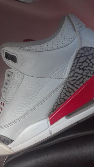 8 1/2 white and red Jordans for Sale in Tucson, AZ