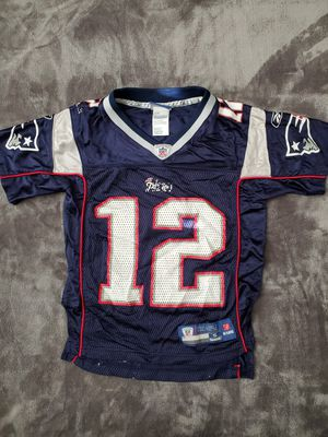 Youth Patriots Brady jersey size 8 small for Sale in Fontana, CA