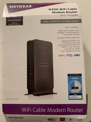N300 WiFi Cable Modem Router for Sale in New York, NY