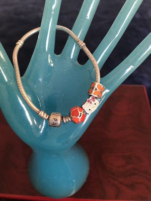 Pandora bracelet with charms for Sale in Madera, CA