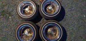 14x7 wire wheels, fit t type wheels for Sale in Spanaway, WA