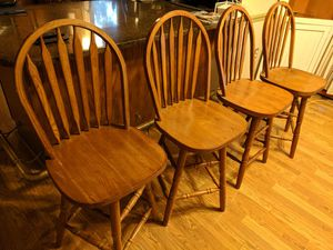 Set of 4 real wood stools for Sale in Saint Charles, MD