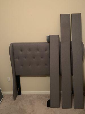 Queen size grey linen bed for Sale in Ocala, FL