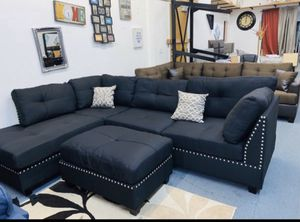 3pcs Sectional Sofa w Ottoman for Sale in Los Angeles, CA