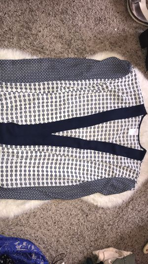 Blue/White Patterned Cardigan for Sale in Oviedo, FL