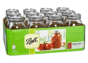 Ball Quart Regular Mouth 32 oz. 12-Pack NEW in Shrink Wrap! for Sale in Miami Beach, FL
