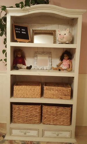White Farmhouse Hutch China Cabinet Toy Storage Bookcase for Sale in Oceanside, CA