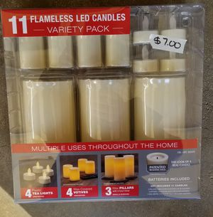 11 Flameless LED candles variety pack for Sale in Manassas, VA