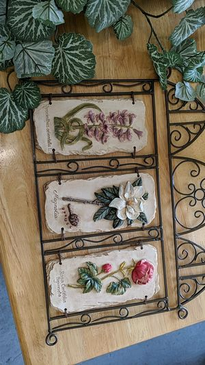 Wall hanging and artificial plant for Sale in Stanton, CA