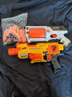Nerf Guns & Darts (Barricade RV-10, & Rev-6) for Sale in Wayne, NJ