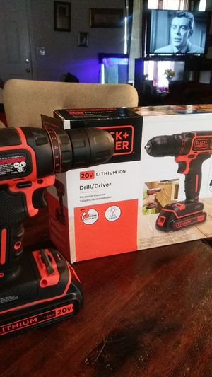Black&Decker 20v Drill/Driver for Sale in Merced, CA