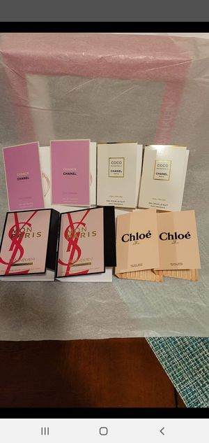 8 amazing perfume samples for women CHANEL,YSL AND CHLOE for Sale in Norwalk, CA