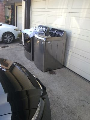 LG washer 5.7 cubic and dryer 9.0 cubic electric for Sale in Poway, CA