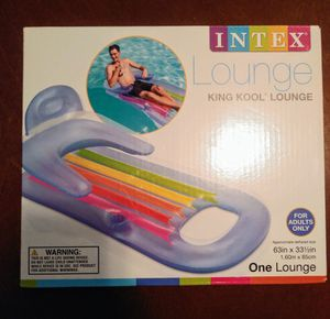 Intex King Kool Lounge Floating Swimming Pool Lounger with Headrest & Cupholder for Sale in Fort Worth, TX