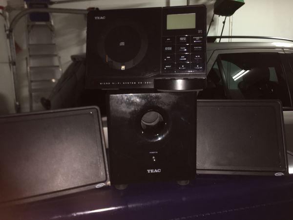 Teac micro hi fi system cd-x60i