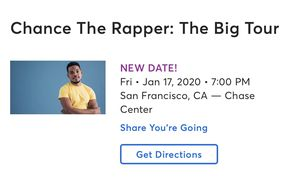 CHANCE THE RAPPER TICKETS!! for Sale in Fresno, CA