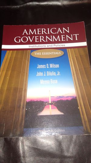 AMERICAN GOVERNMENT TEXTBOOK for Sale in KINGSVL NAVAL, TX
