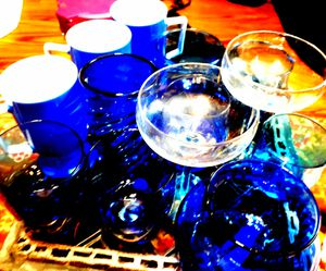 13 piece blue glass collection for Sale in San Antonio, TX