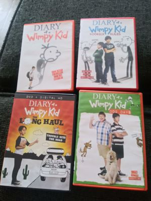 Diary of a Wimpy Kid collection 1 through 4 for Sale in Houston, TX